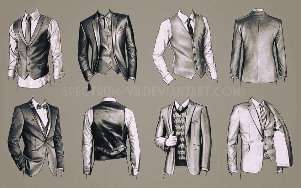 Vẽ quần áo, nếp gấp quần áo cho nam How to draw clothes