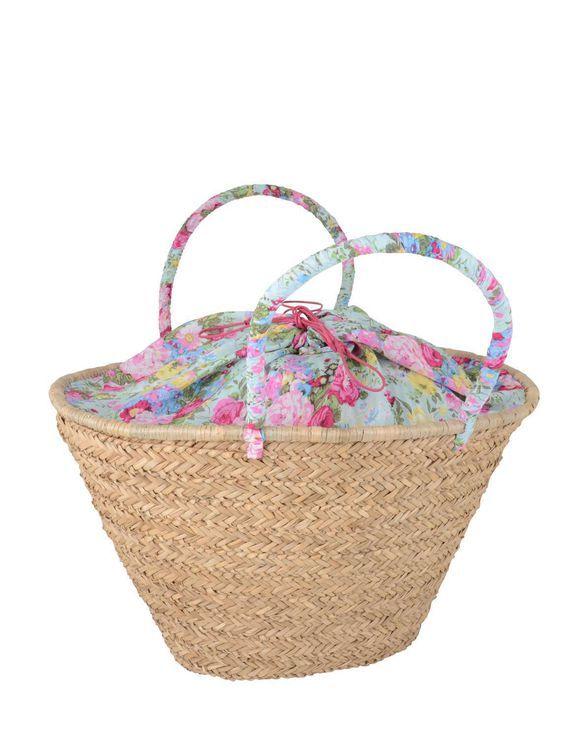 Korbtasche mit Blumenmuster von Ib Laursen