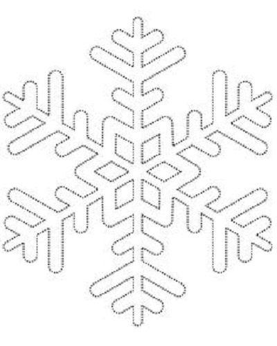 comment fabriquer un flocon de neige tout brillant! un patron