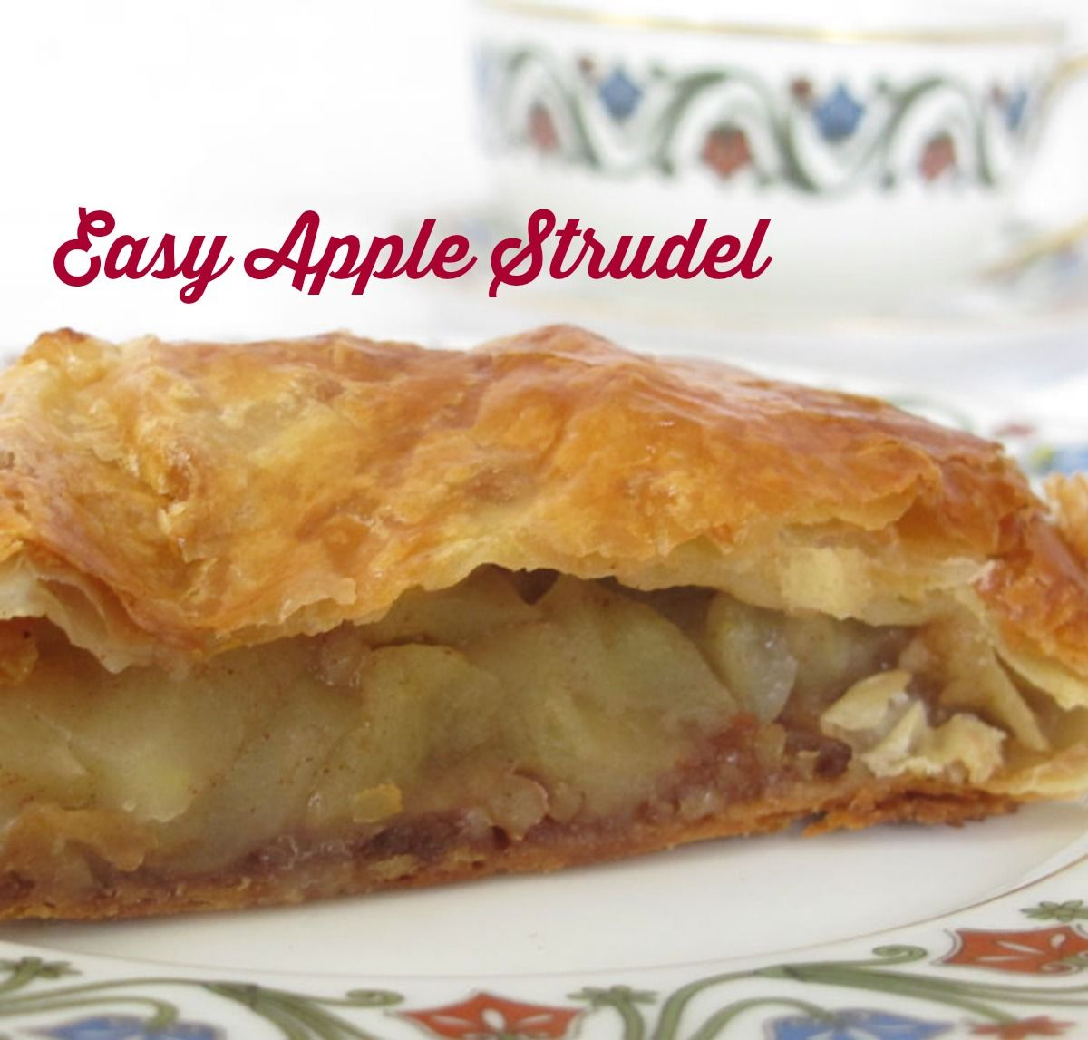 Easy Apple Strudel - perfect for Thanksgiving or a fall party, but also simple enough to make anytime.