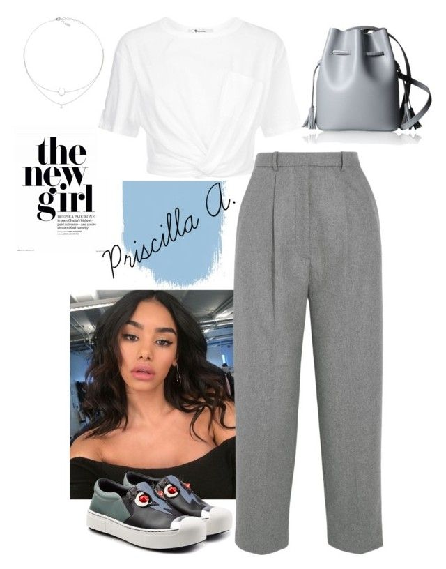 """""""The New Girl"""" by priscillaanakwah on Polyvore featuring GET LOST, T By Alexander Wang, Fendi and Acne Studios"""