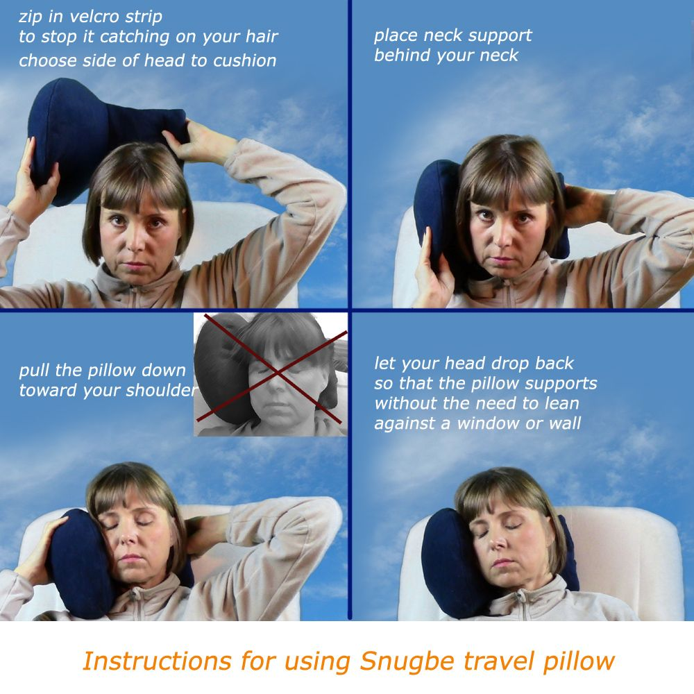 Snugbe luxury pillow works without a