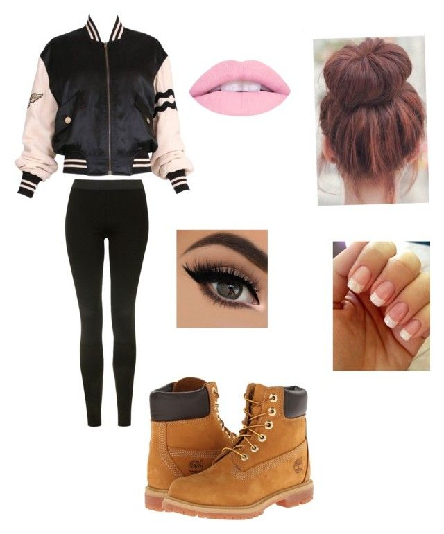 """Untitled #24"" by alyssahislope22 ❤ liked on Polyvore featuring Moschino, Topshop and Timberland"