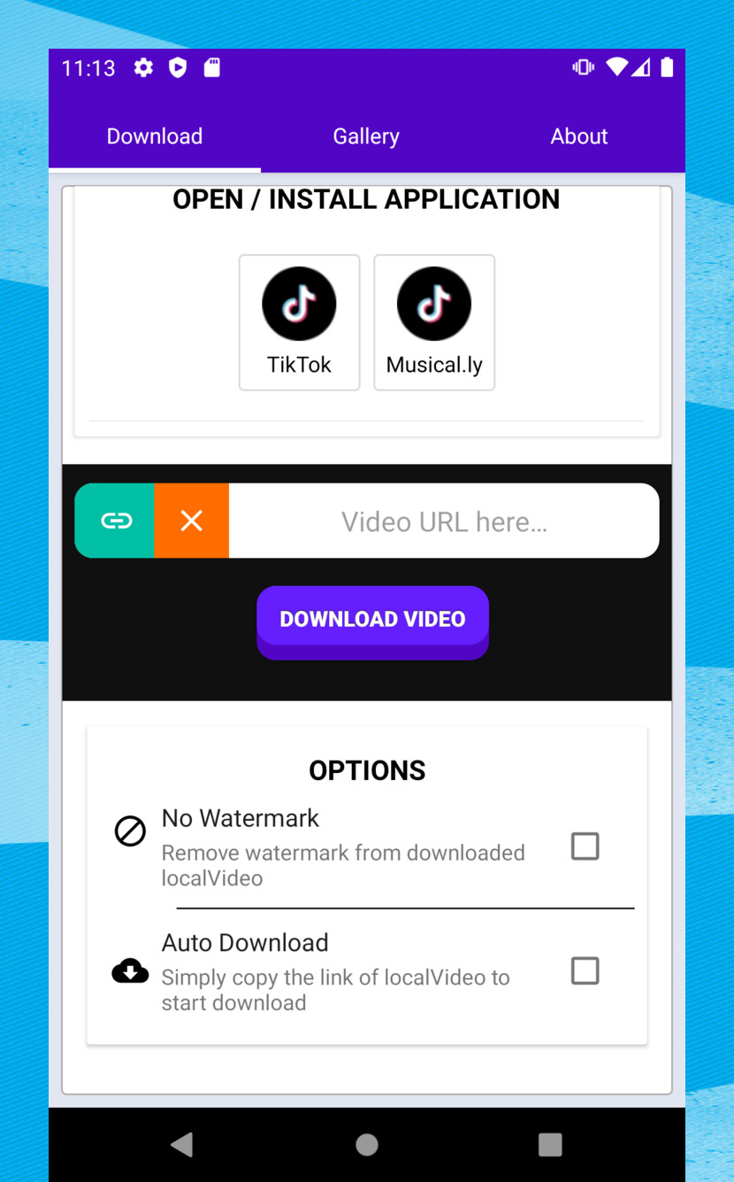 Video Downloader For Tiktok Or Musically Save Video Video People Videos