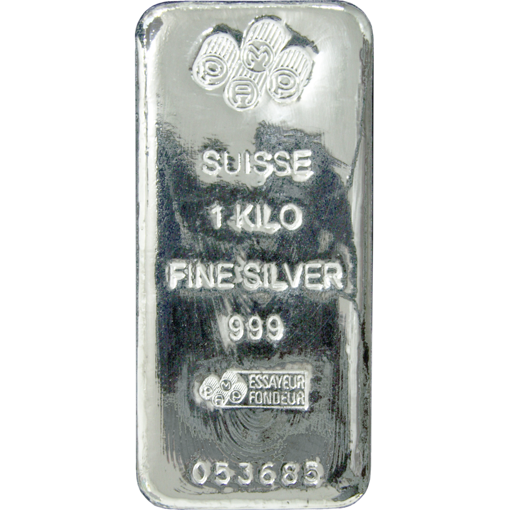 Pamp Suisse 1kg Poured Silver Bullion Bar Buy Gold And Silver Gold Bullion Coins Silver Investing
