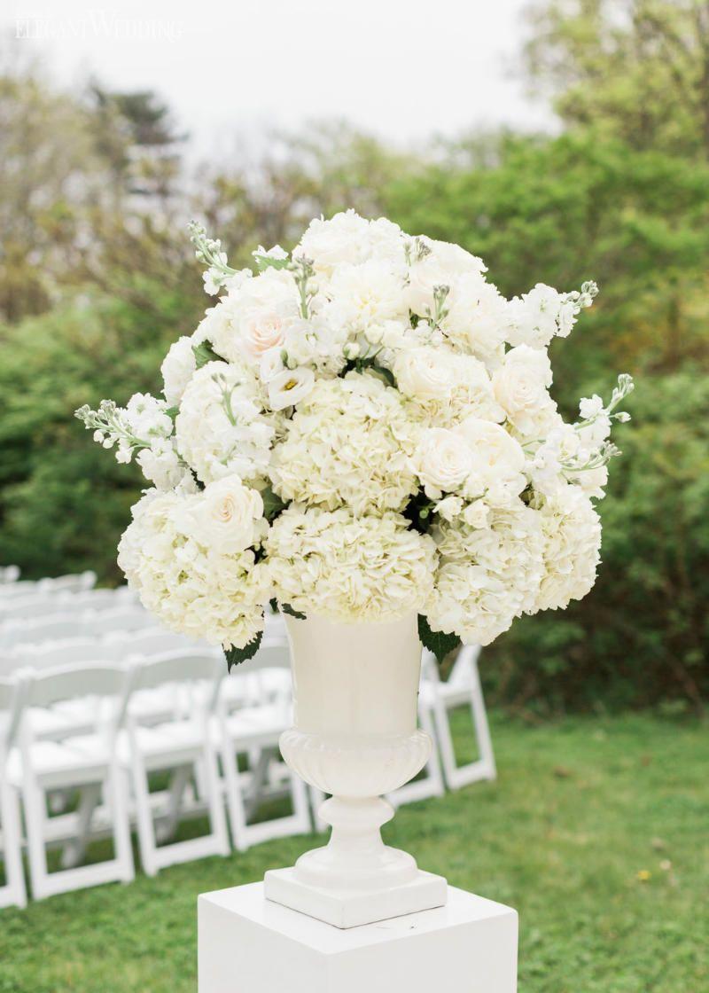 Classic & Romantic Wedding with Shades of White | ElegantWedding.ca #ceremonyflowers