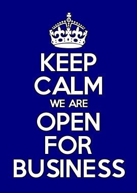 Keep Calm We Are Open For Business Posh Miami Clothing Open For