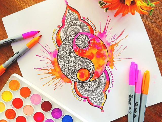 Hey guys, just a little doodle of a yinyang, this is probably the 3rd time I've…
