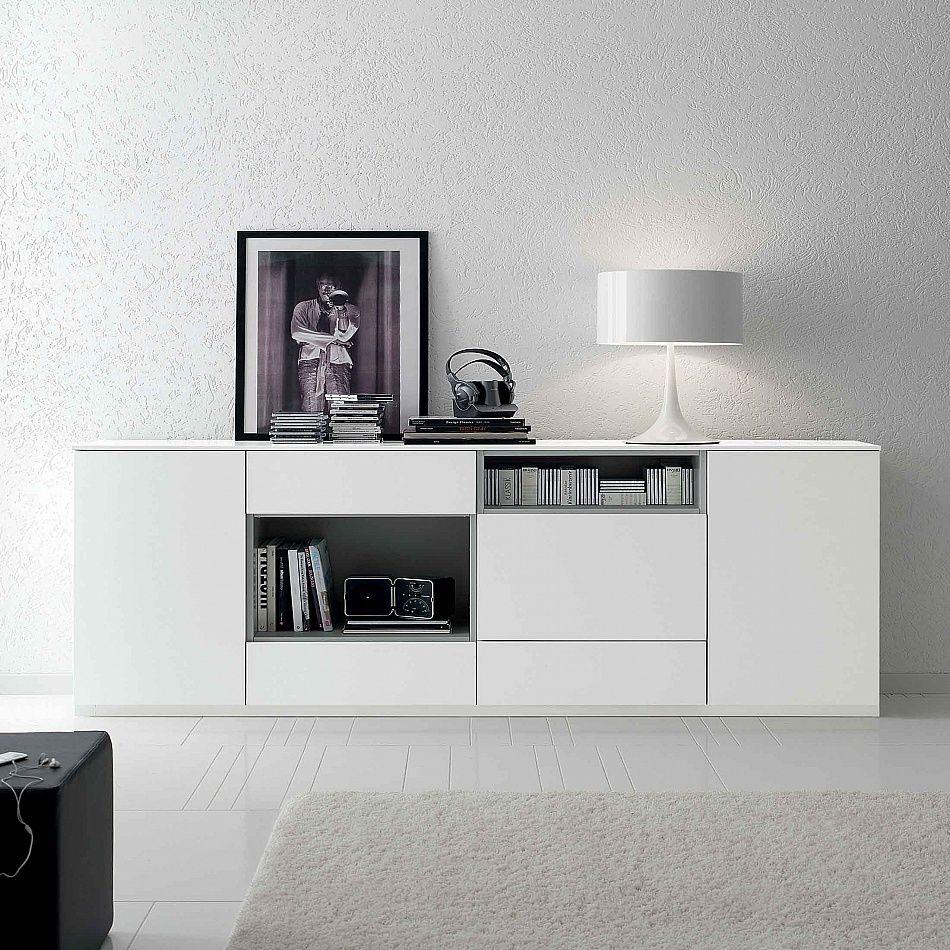 Sideboard basic by santarossa sleek minimalist design for Mobili contemporanei moderni