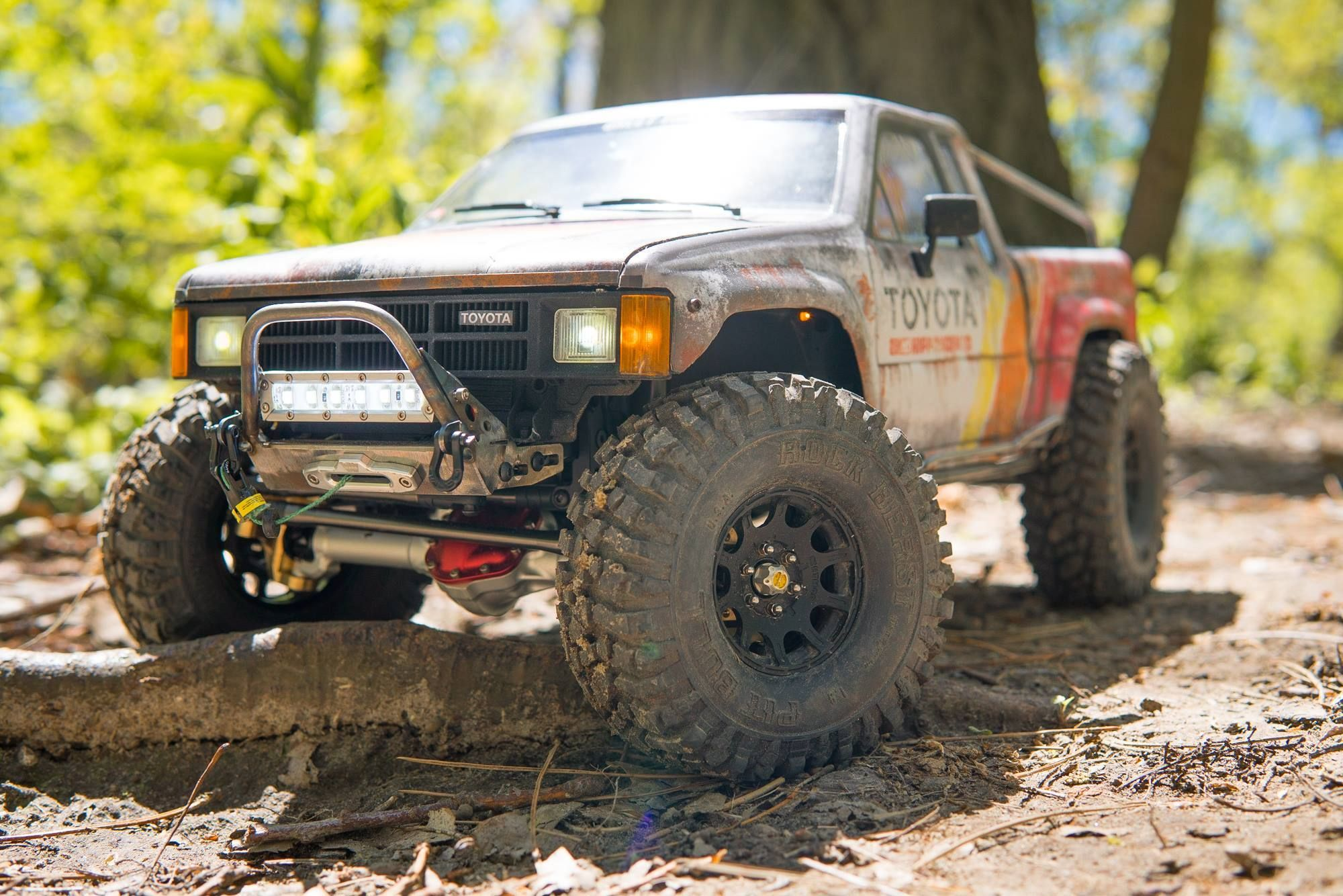 Pro Series Comp-Style SCX10/SCX10 II Front Bumper with Trail