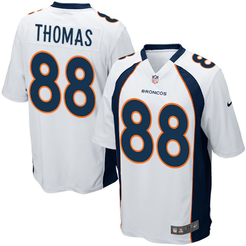 free shipping e3ddb 22142 Demaryius Thomas Denver Broncos Nike Game Jersey - White ...