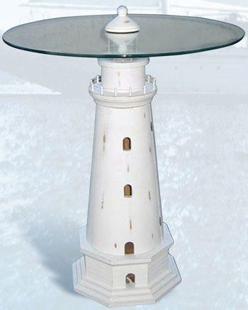 """coastal end table   24"""" Lighthouse Table TB-900"""