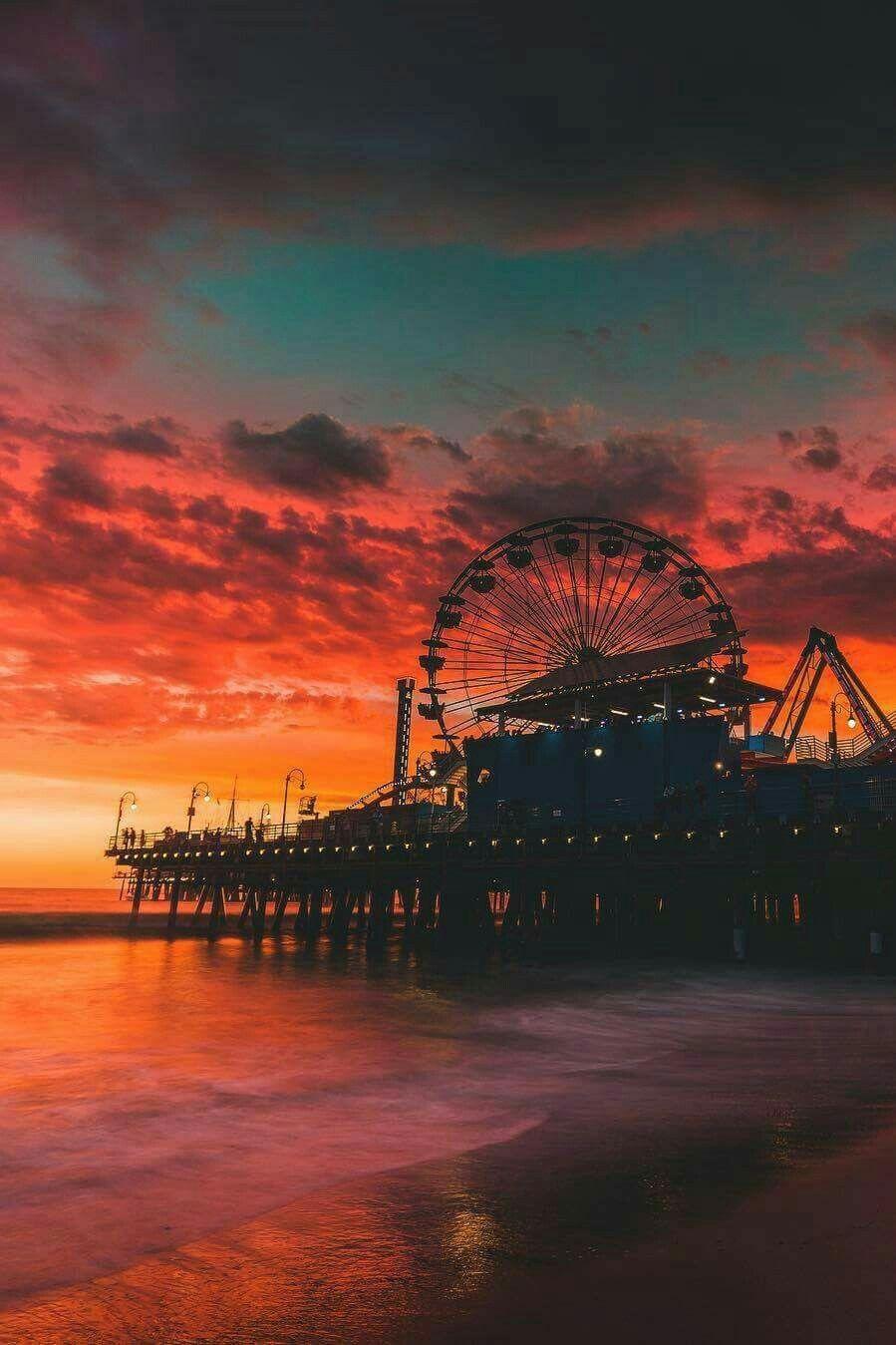Santa Monica Pier Sunset California Tumblr Pictures