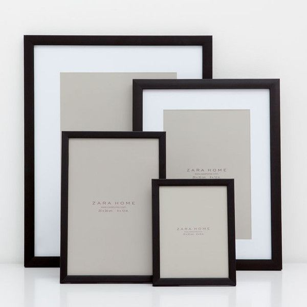 plain black frame frames decoration zara home canada liked on polyvore featuring home home decor frames black frames plain black picture frames