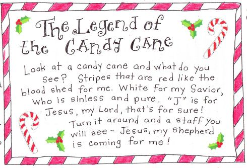 photograph relating to Story of the Candy Cane Printable named The Legend of the Sweet Cane - Free of charge Printable Xmas