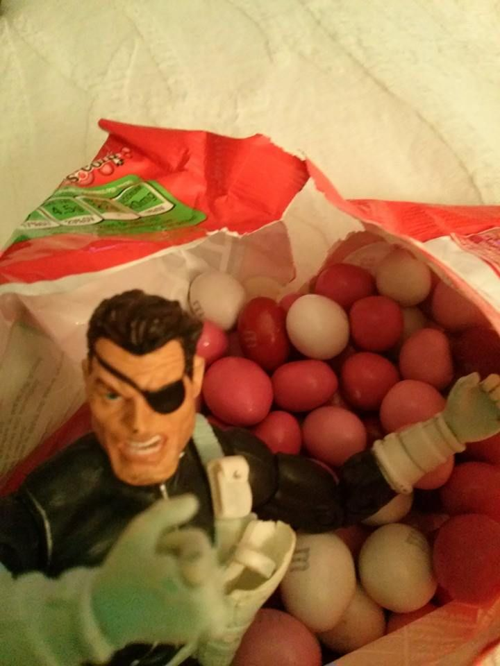 They call this Valentine candy?  WHy are there no green ones?  Original Nick Fury calls BS!