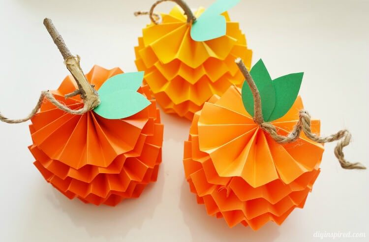 How to Make Paper Pumpkins for Fall Kids Crafts Pinterest