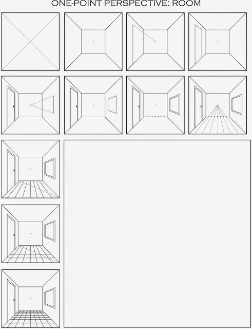 Here Is A Printable Handout Of The One Point Perspective Grid That Both Artists Started W One Point Perspective Perspective Drawing Perspective Drawing Lessons