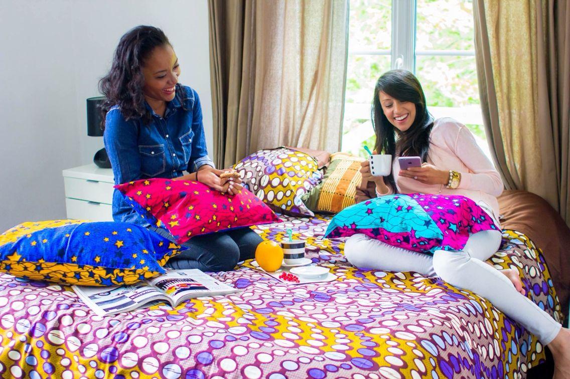 Linge de lit en wax housse beddings bedsets cover parures de lit couettes housses - Housse de couette africaine ...