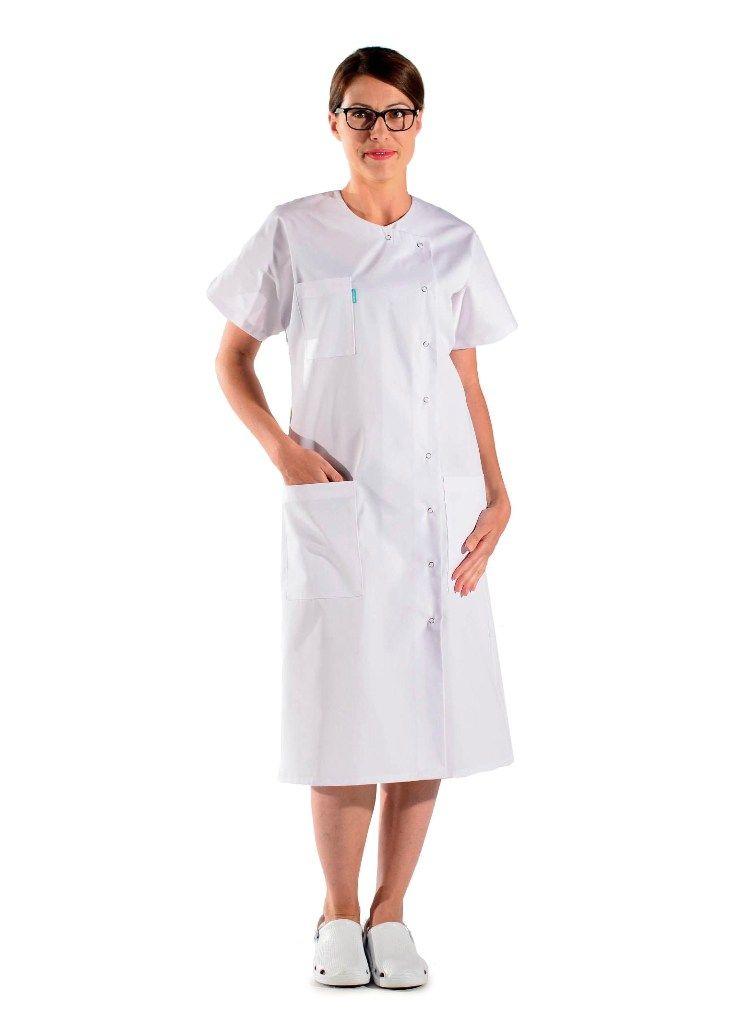 Vintage Pressions Blouse D'infirmière Blanche À Boutons RqxZnUSxw