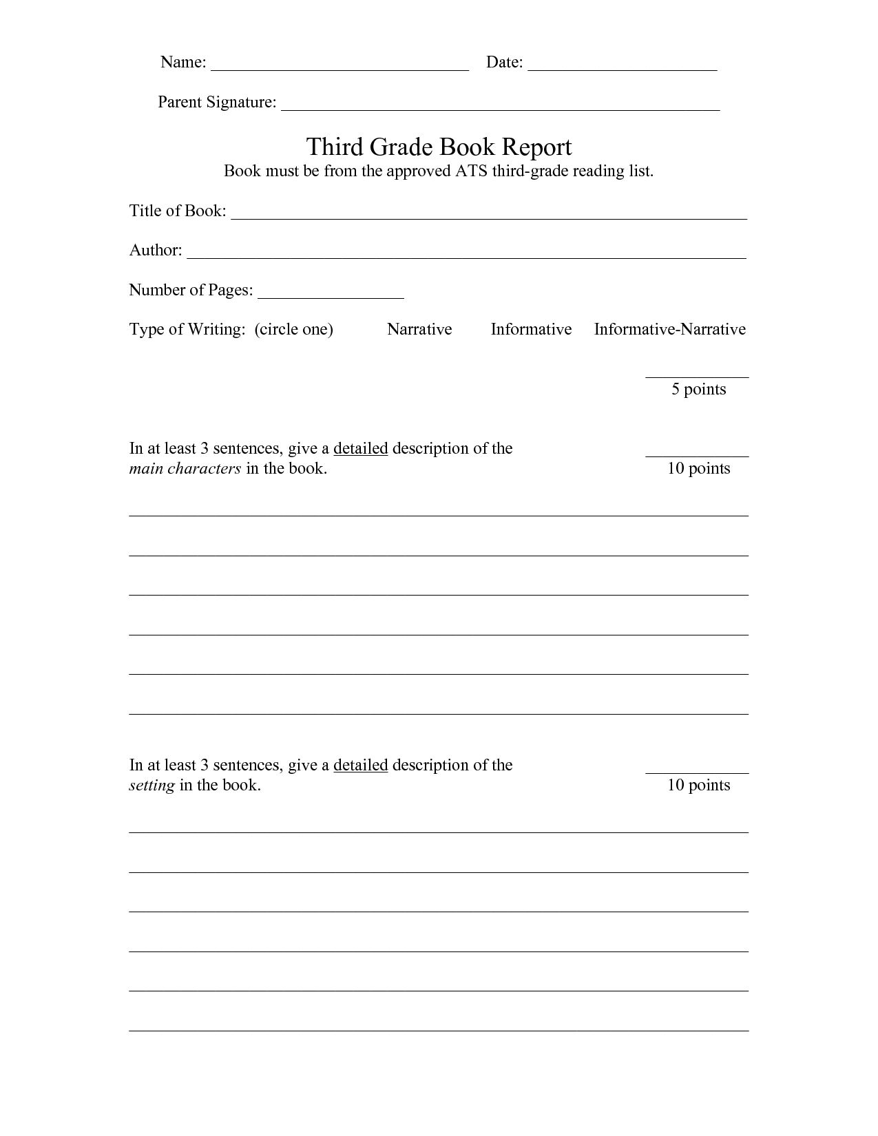 Report Outline Worksheet In With Images