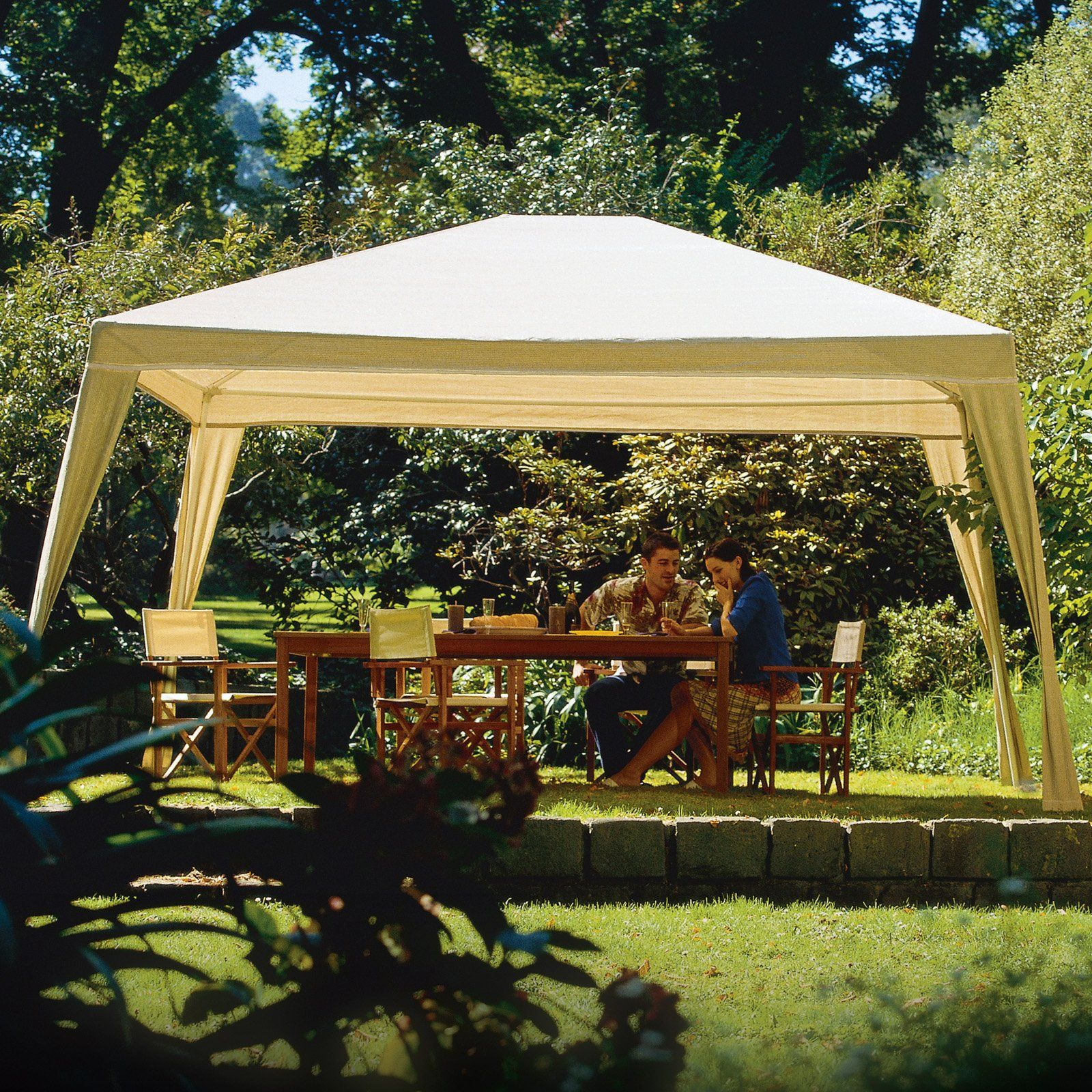 Coolaroo 10 x 12 ft. Aluminum Gazebo Canopy - Canopies at Hayneedle & Coolaroo 10 x 12 ft. Aluminum Gazebo Canopy - Canopies at ...