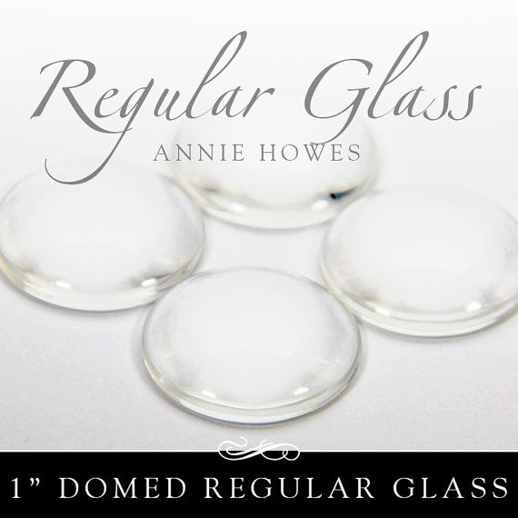 1 In Clear Circle Glass Tiles Regular Domed Clear Glass Tiles For