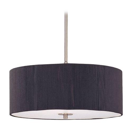 modern drum pendant lighting. $200 3 LIghts - Modern Drum Pendant Light With Black String Shade | DCL 6528- Lighting D