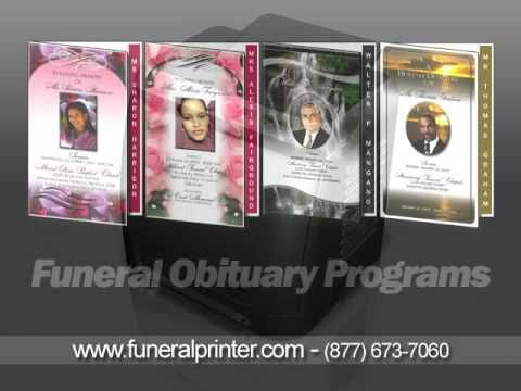 Free Template For Funeral Program Fascinating Free Funeral Program Templates  Youtube  A Celebration Of Life .