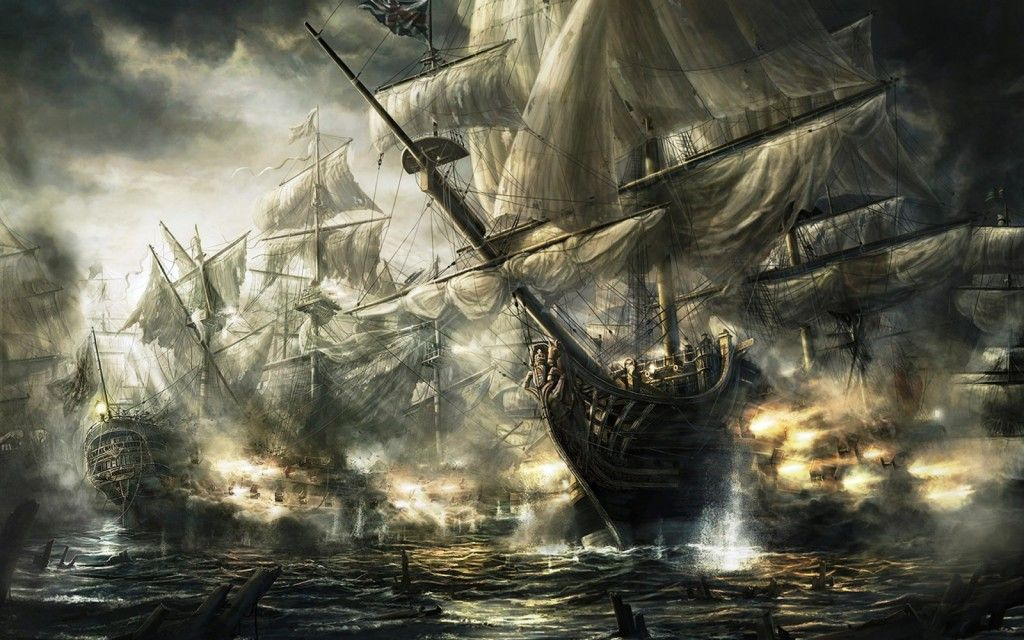 Download Pirate Ship Battle Hd Hd Wallpapers With Images Ship