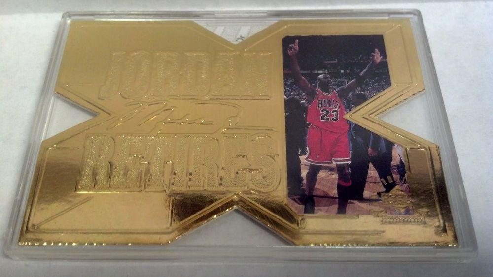 1999 upper deck 22k gold michael jordan 1 michael jordan