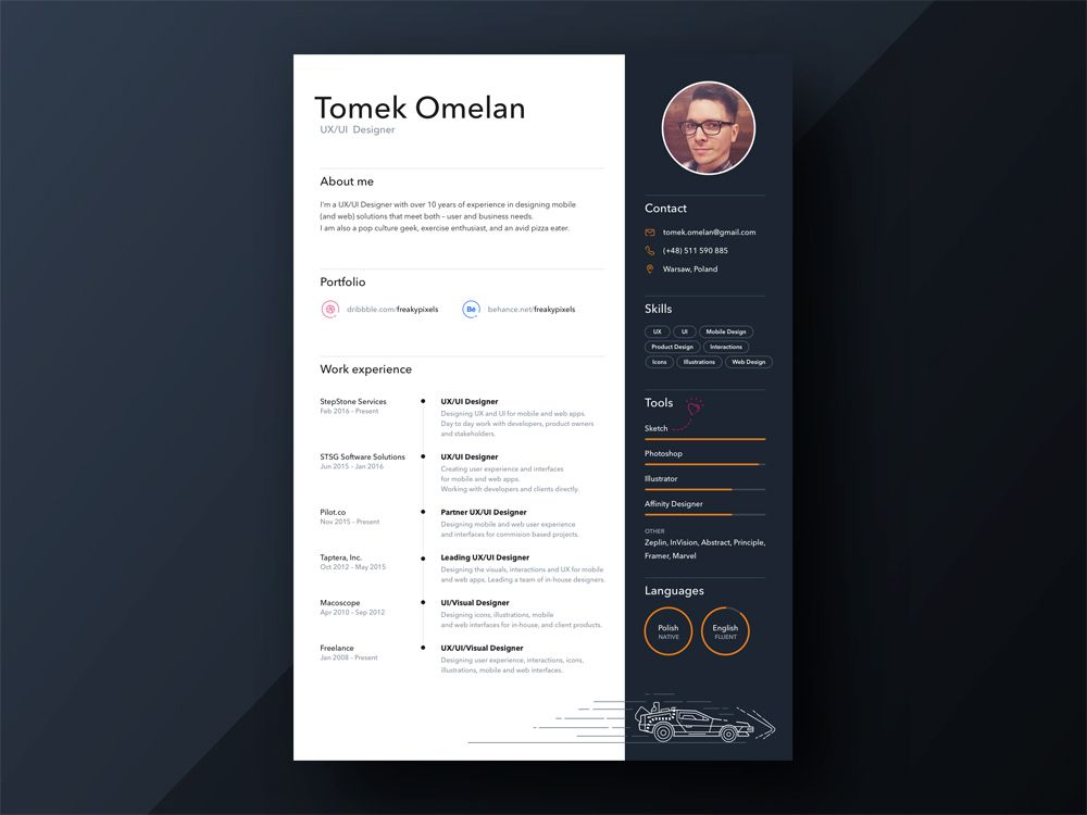 Free Personal Sketch Resume Template With Timeline Design Timeline Design Resume Template Personal Timeline