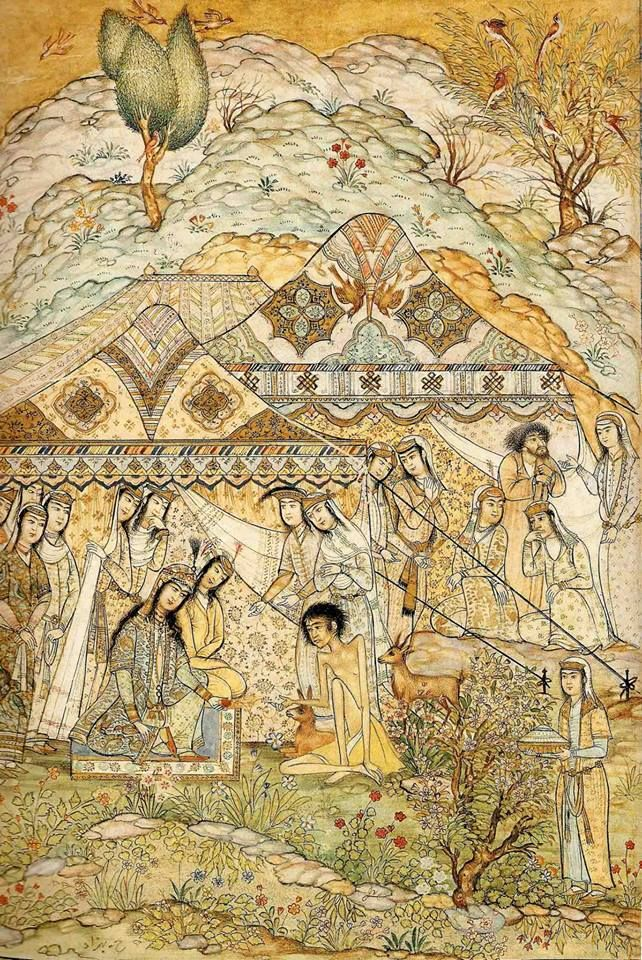 The story of Leyla and Majnoon by Hosein Behzad