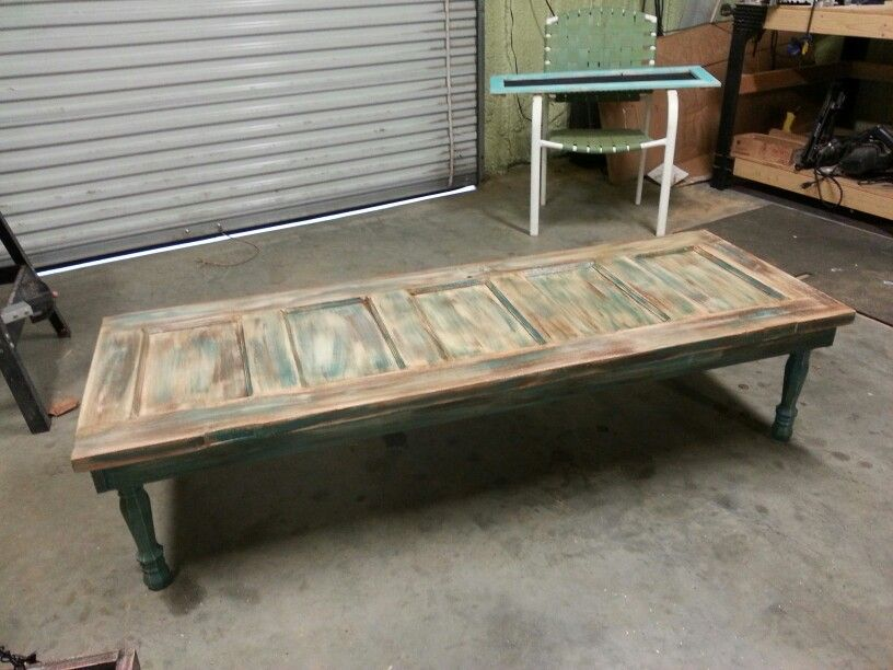 Old Wood Door Coffee Table