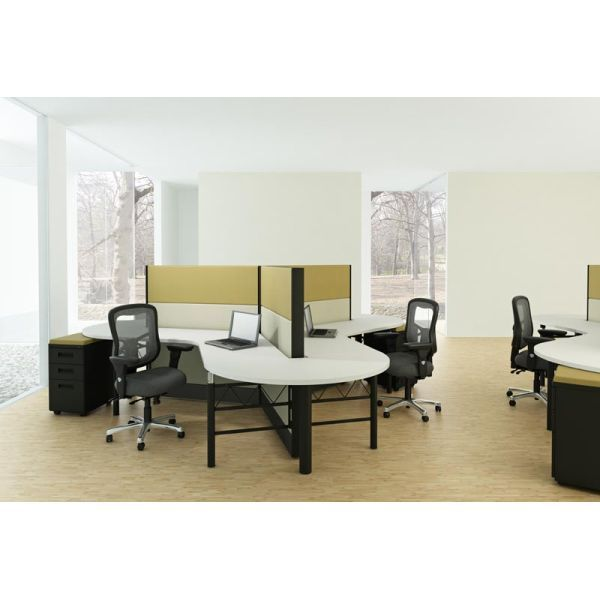 3 Person Shared Workstations Office Furniture Modern