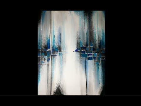 Peinture Acrylique Abstraite Facile Youtube Toile Peinturel Art