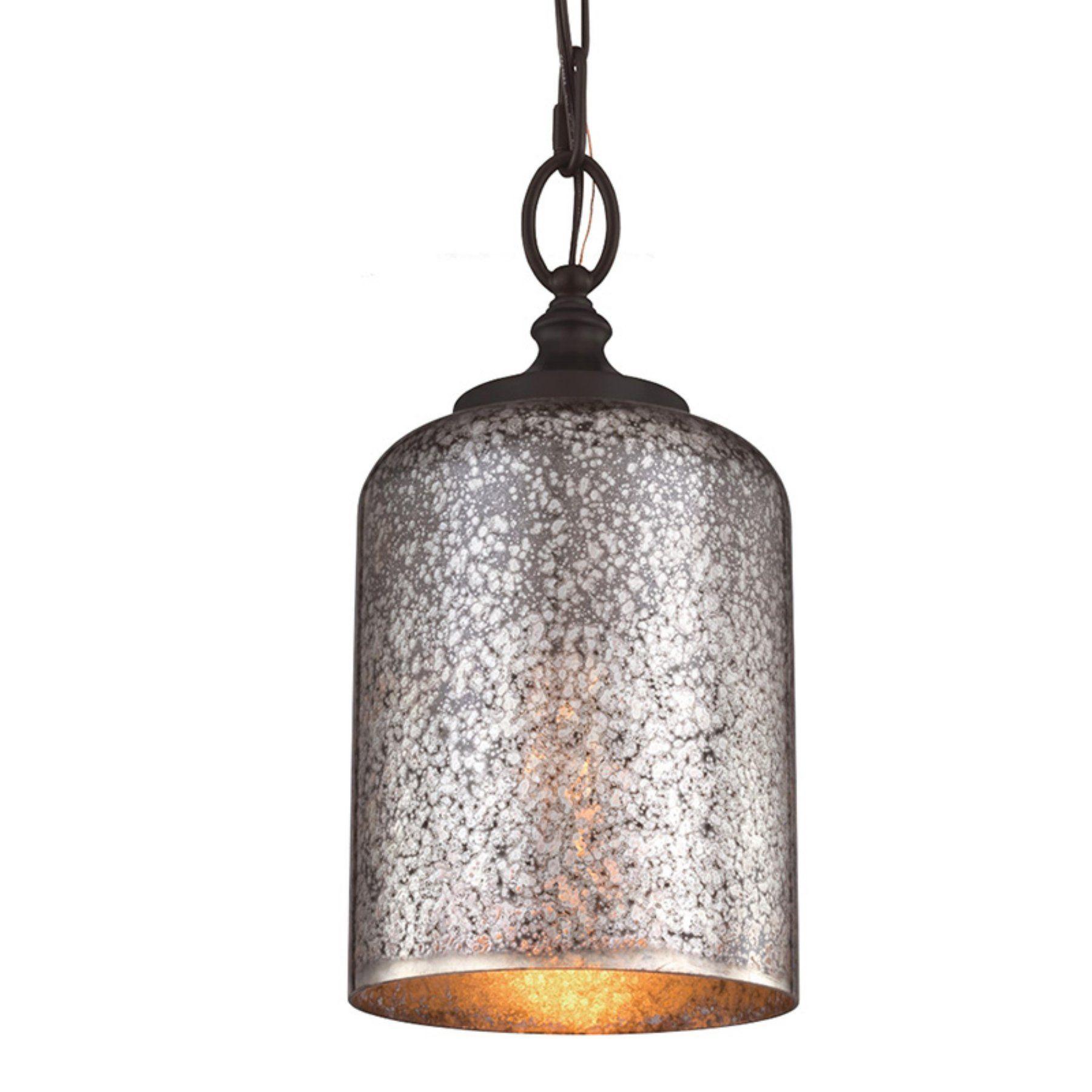 Brushed Steel Feiss 1-Light Hounslow Mini Pendant P1320BS