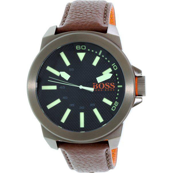 Hugo Boss Men's Orange 1513168 Brown Leather Quartz Watch