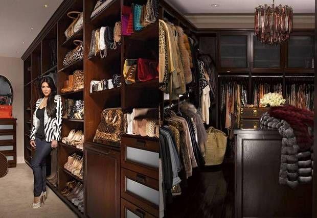 Kim Kardashian Posing In Her Walk Closet