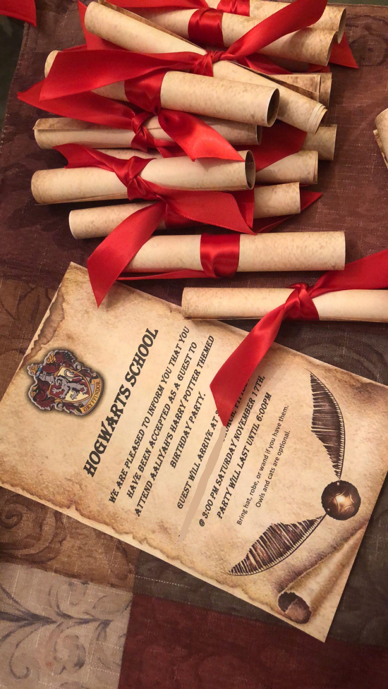 Harry Potter Invitations Harry Potter Theme Birthday Harry Potter Theme Birthday Party Harry Potter Birthday Invitations