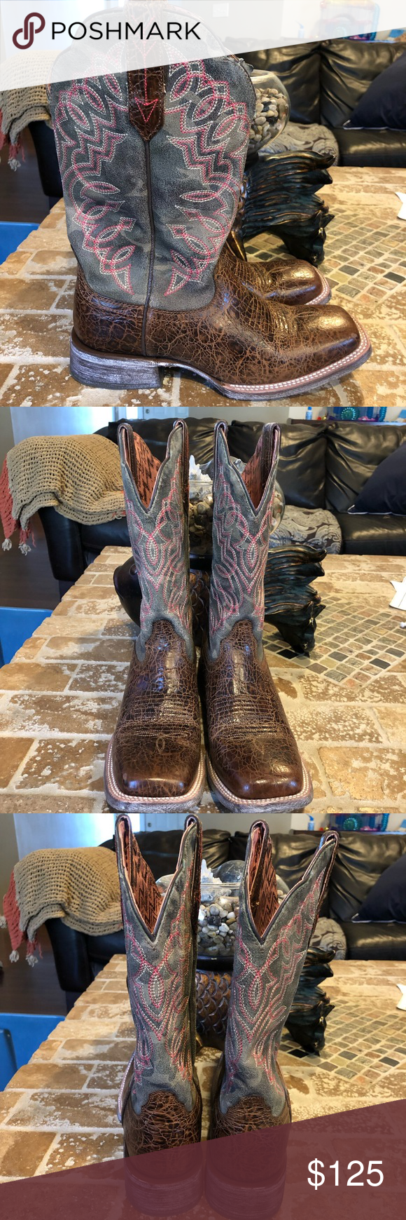 f0a0df8f0b5 Ariat NWOT size 8.5 M Never worn Out box Circuit Cisco Western Boot 4LR™  footbed for support and cushioning •Full-grain leather foot and upper  •Unique ...