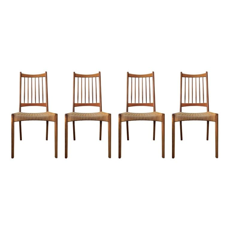Wondrous Set Of 4 1Stdibs Dining Room Chairs Vintage Paper Cord Ocoug Best Dining Table And Chair Ideas Images Ocougorg