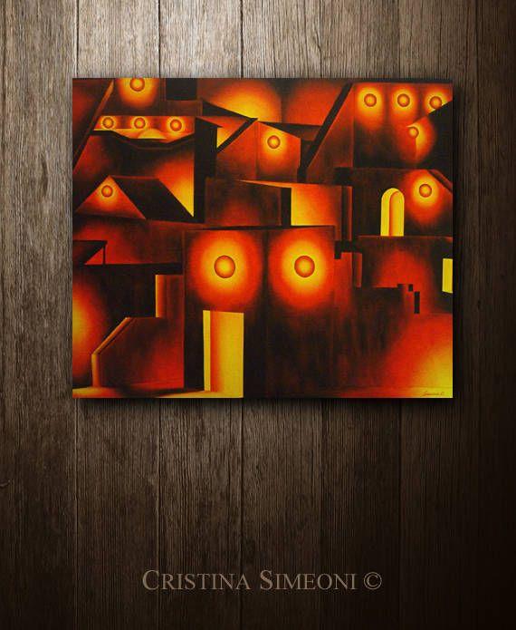 "Diplomazia - Original Handmade Oil Painting - 40 x 48"" di SimeoniStudioArte su Etsy"