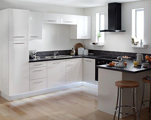 White And Black Kitchen kitchen with black appliances and white cabinets | kitchen reno