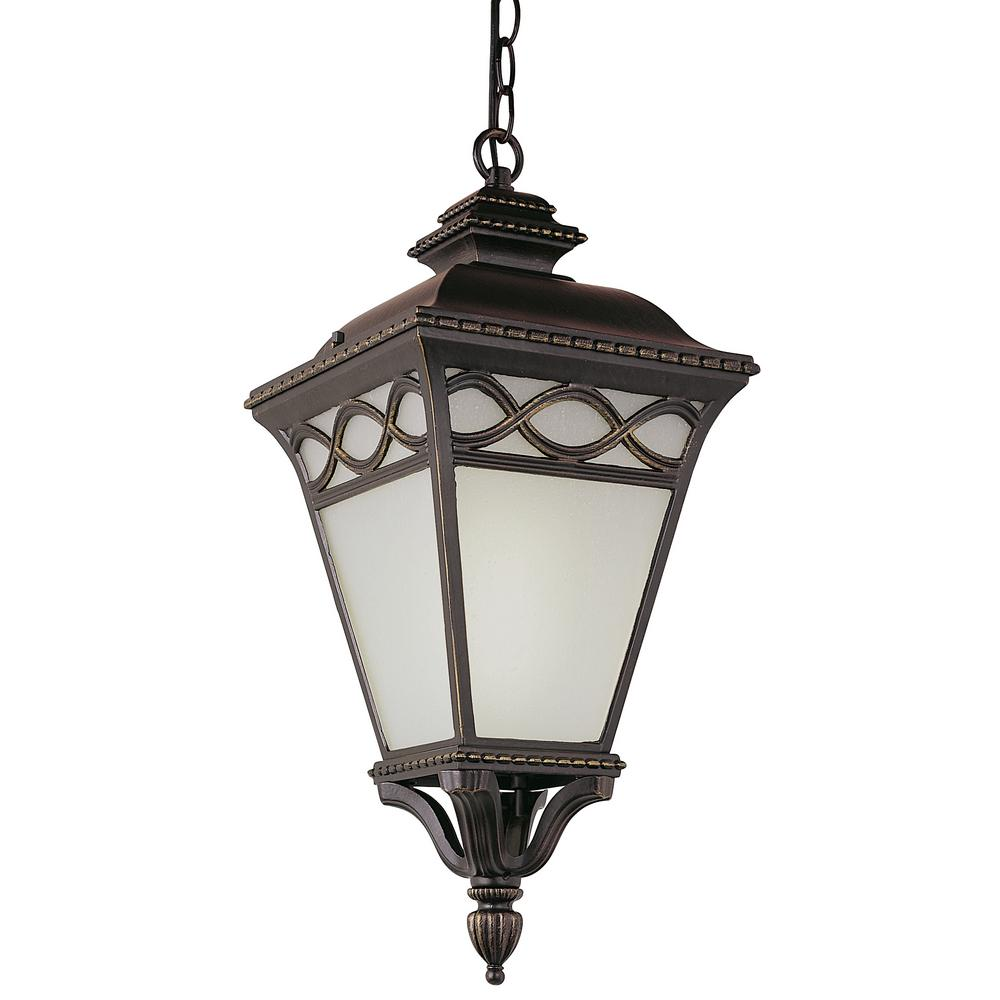 Transglobe 1 Light Bronze Outdoor Hanging Lantern Pl 50516 Brb
