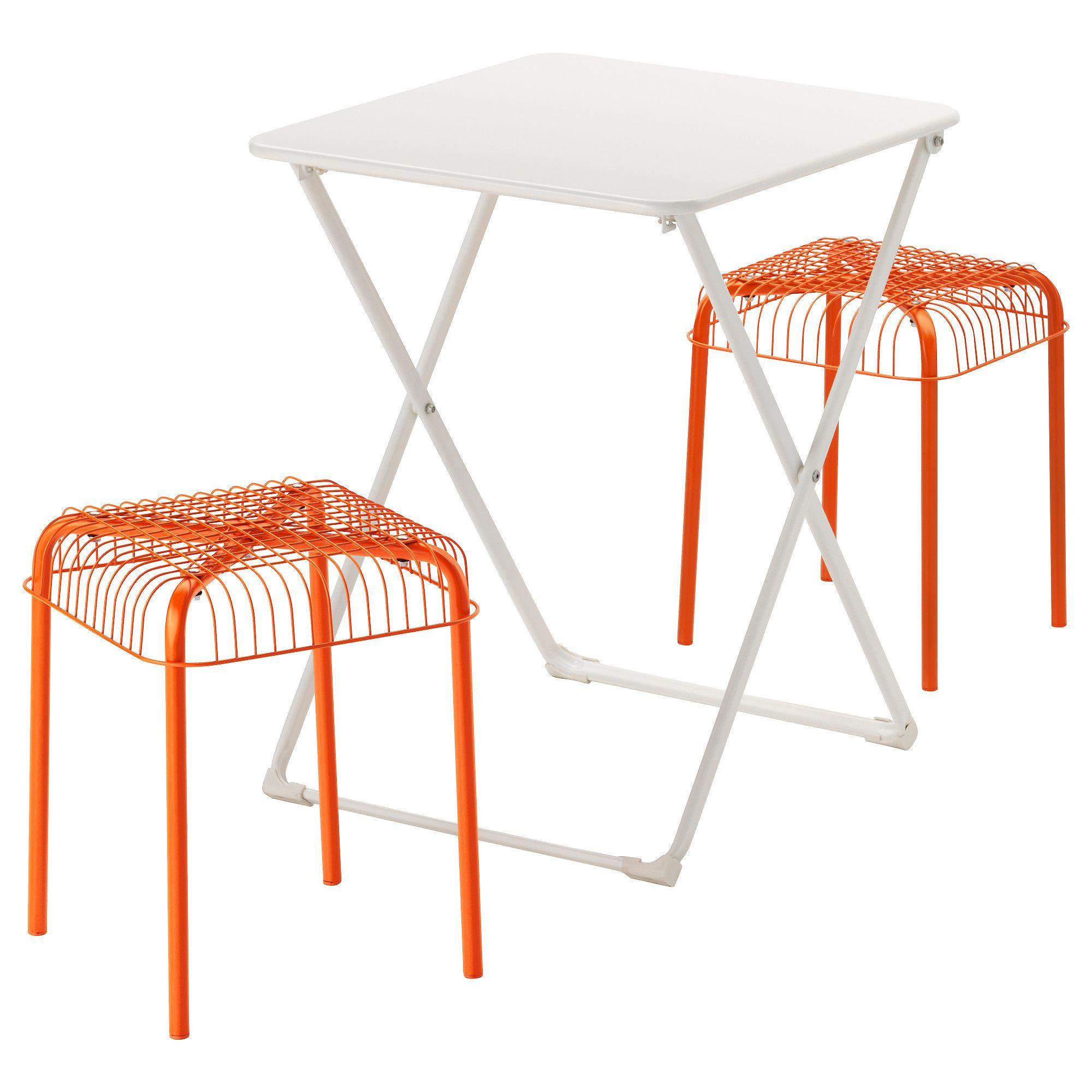HÄRÖ / VÄSTERÖN, Tisch + 2 Hocker/außen, weiß Jetzt bestellen unter ...