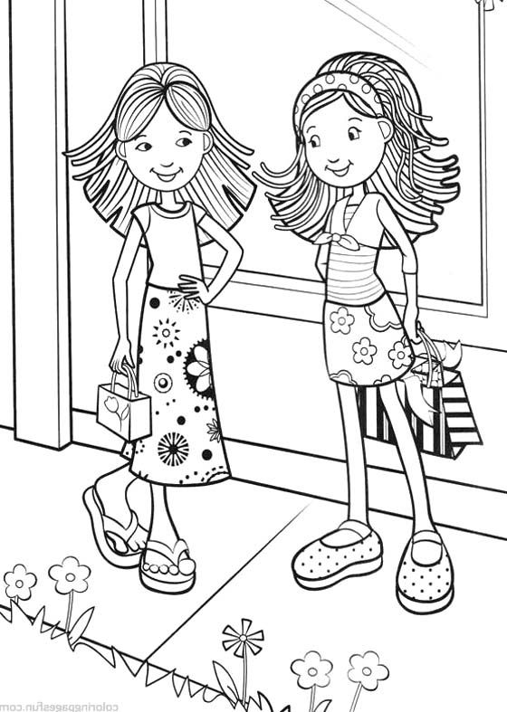 Groovy Girls Meet With Friends Coloring Pages - Groovy Girls ...