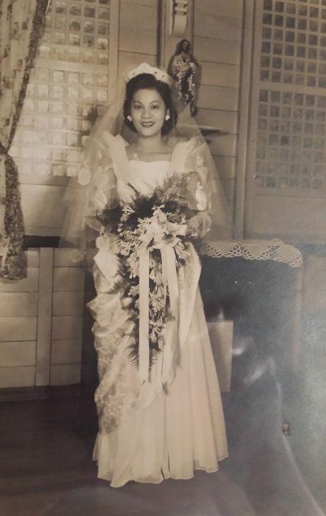 1950's Wedding Gown, Philippines | Vintage Fashion in 2019 ...