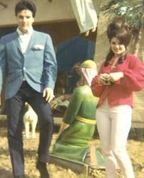 Priscilla and Elvis at Graceland