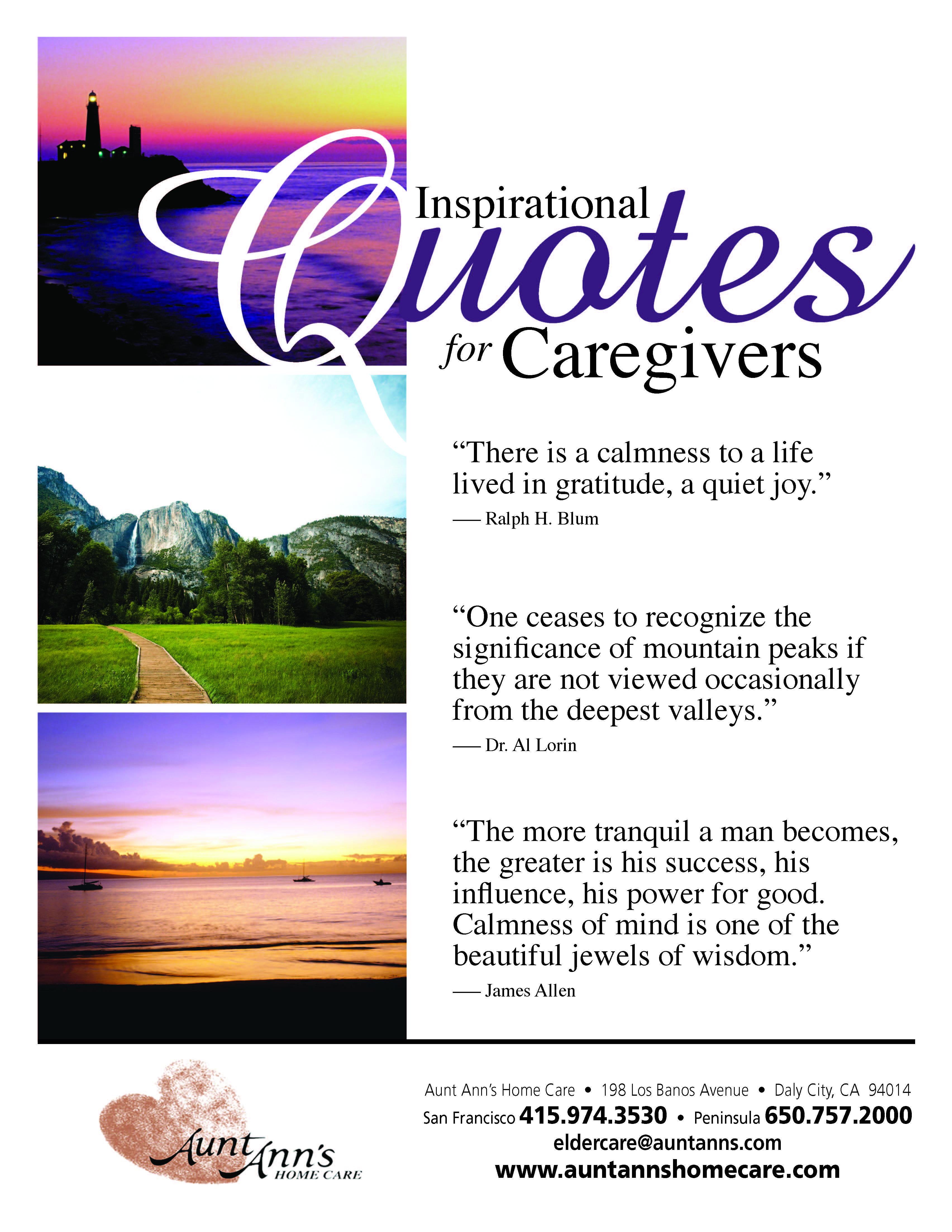 Inspirational Quotes for Caregivers quotes caregiving